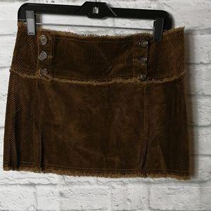 Juicy couture brown mini corduroy skirt